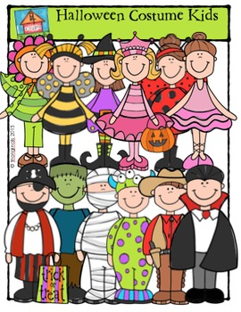 Halloween Costume Kids {P4 Clips Trioriginals Digital Clip Art}