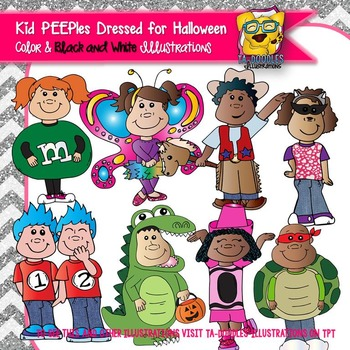 Halloween Costume Kids - PEEPles Collection Commercial Use Clipart