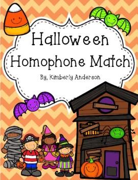 Halloween: Costume Kids and Candy Corn Homophones Match