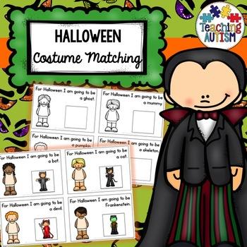 Halloween Costume Matching Cards