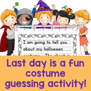 Writing Halloween Costume Mystery Descriptive Paragraph Lesson Plan Plus