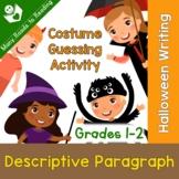 Halloween Descriptive Paragraph Writing Lesson Plan Grades 1-2