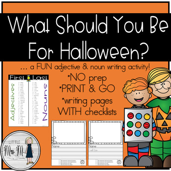 Halloween Costume Nouns and Adjectives