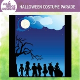 Halloween Costume Parade Clip Art Background