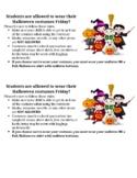 Halloween Costume Parent Letter