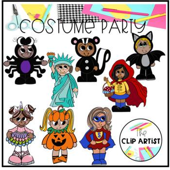 Halloween Costume Party Clip Art