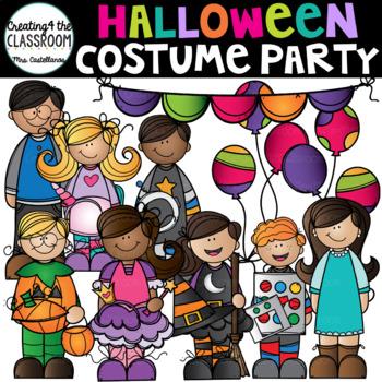Halloween Costume Party Clip Art {Halloween Clip Art}