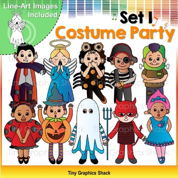 Halloween Costume Party Kids Set 1