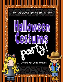 Math and Literacy Centers for Halloween - Halloween Costume Party!