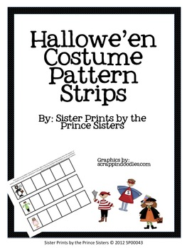 Hallowe'en Costume Pattern Strips