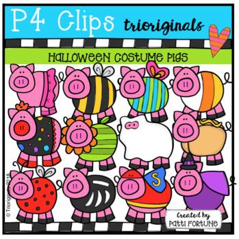 Halloween Costume Pigs (P4 Clips Trioriginals)