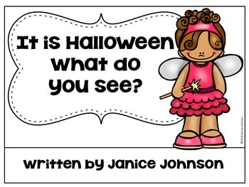 Halloween Costume Reader & Cut/Paste ~ It is Halloween. What do you see?