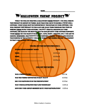 Halloween Costume THEME project
