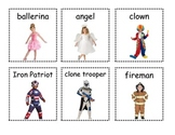 Holidays - Halloween Costume Writing Activity with Costume Pictures