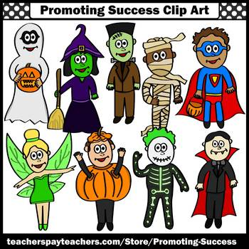 Halloween Costumes Clipart, Halloween Clip Art, Dress Up, Commercial Use SPS