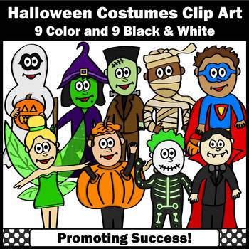 Halloween Costumes Clip Art Commercial Use SPS