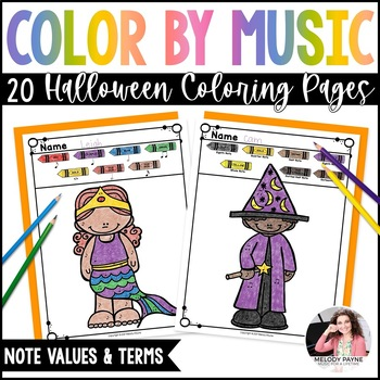 Halloween Color by Note PLUS Writing Prompt