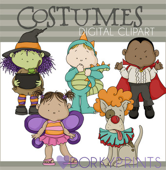 Halloween Costumes Digital Clip Art