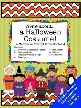 Halloween Costumes Narrative Writing Prompt Common Core TN Ready Aligned