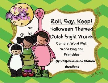 Sight Words: First Grade, Halloween