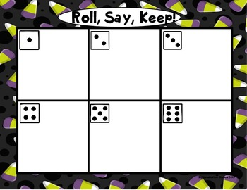 """Halloween Costumes """"Roll, Say, Keep!"""" 3rd Grade Dolch Sight Word Center + Extra"""