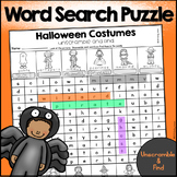 Halloween Costumes Word Search Puzzle (Unscramble and Find)