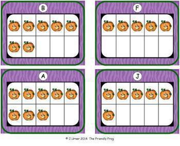 Halloween Count, Add & Subtract Bundle with 10 & 20 Frames {Subitizing}