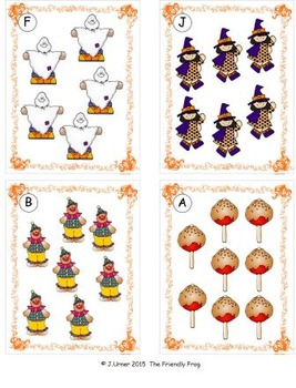 Halloween Count, Add, Subtract & Graph: Write the Room BUNDLE