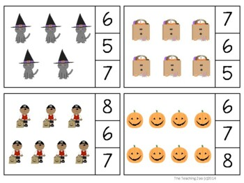 Halloween Count & Clip 1- 30 Task Cards