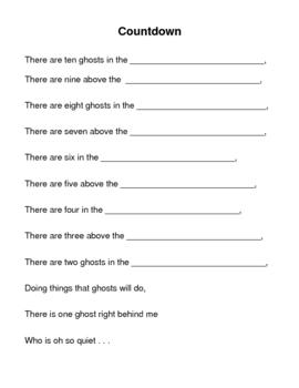 Halloween: Count Down Ghost Poem