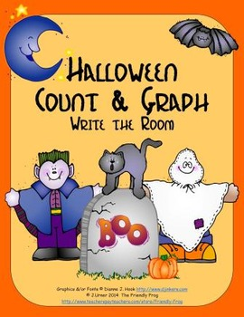 Halloween Count & Graph: Write the Room