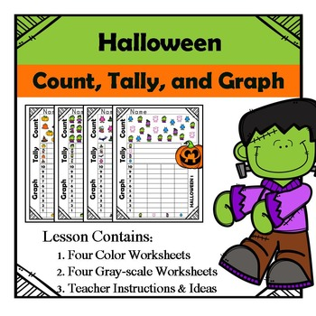 Halloween - Count, Tally, & Graph