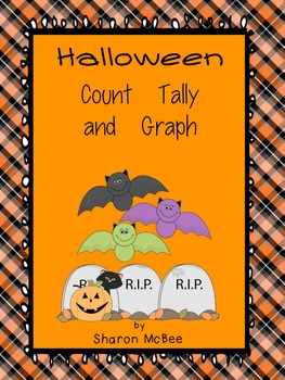 Halloween Count, Tally, Graph Graphing Activity