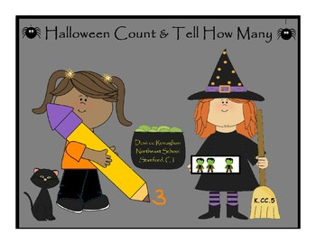 Halloween Count & Tell How Many