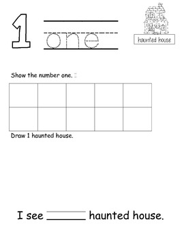 Halloween Math Count With Me 1-10 Common Core Alligned