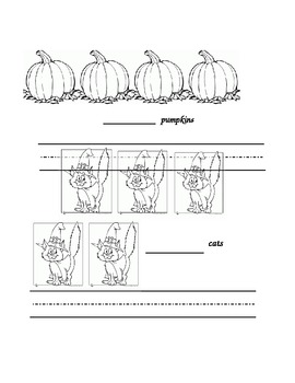 Halloween Count Write Color