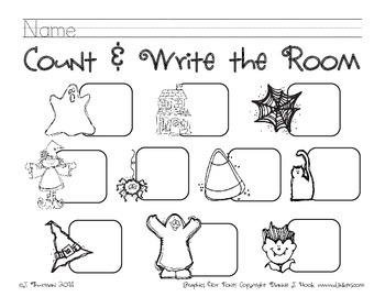 Halloween Count & Write the Room