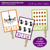 Halloween Count and Clip Cards - numbers 1 - 20