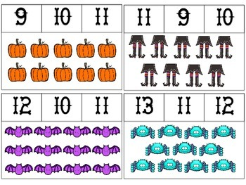 Halloween Count and Clip #'s 1-20
