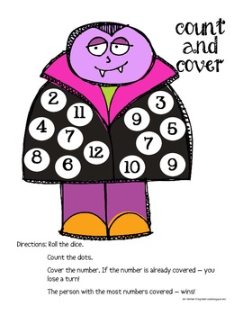 Halloween Count and Cover Math Game - FREEBIE!