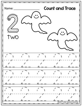 Halloween Count and Trace - Numbers 1-20