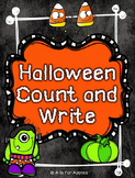 Halloween Count and Write