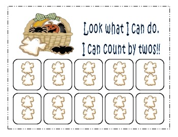 Halloween Count by 2's Math Center
