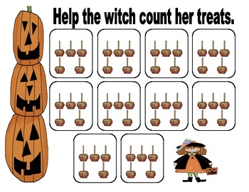 Halloween Count by 5's Math Center
