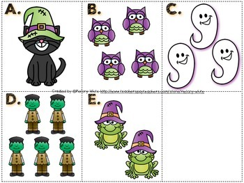 Halloween Count the Room 1-5
