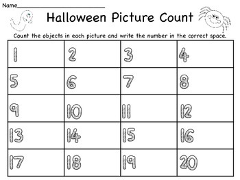 Halloween Count the Room Center