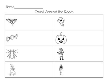 Halloween Count the Room (Write the Room)