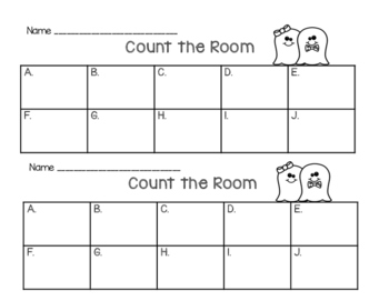 Halloween Count the Room - numbers 1 to 10