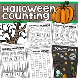 Halloween Counting 1:1 Correspondence Unifix Cube Tower Mats Math Center
