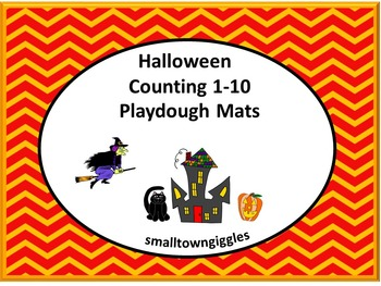 Halloween Counting 1-10 Playdough Mat PK, K, Special Educa